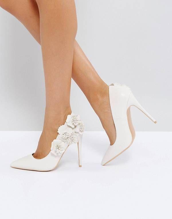 Sandalias de novia de tacón con adornos HONOR de ASOS hcsdF