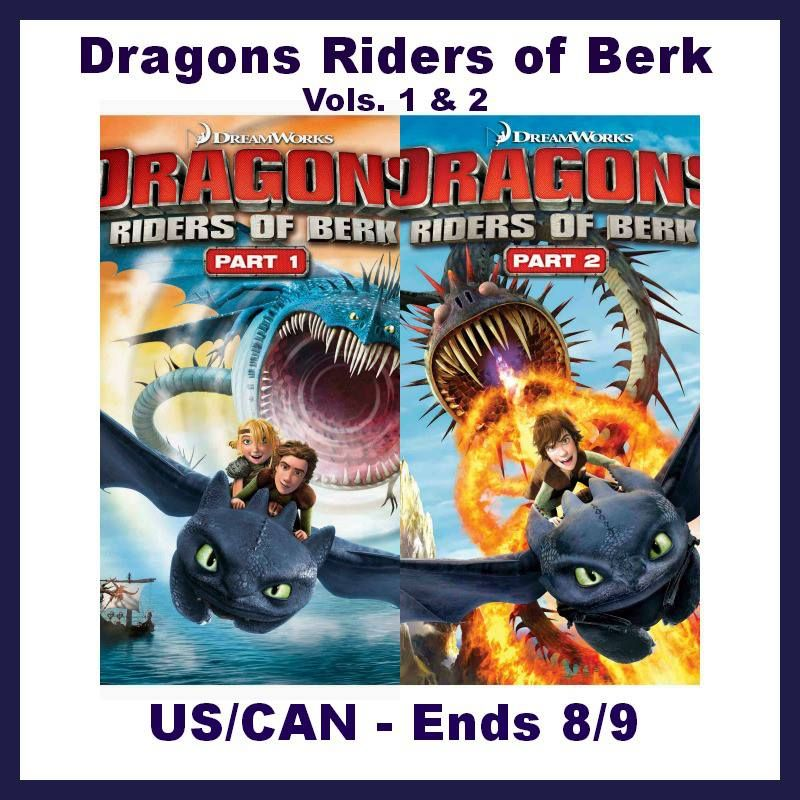 Dragons Riders of Berk DVD Giveaway Open to US/CA ends 8/9 - Emptynester Reviews