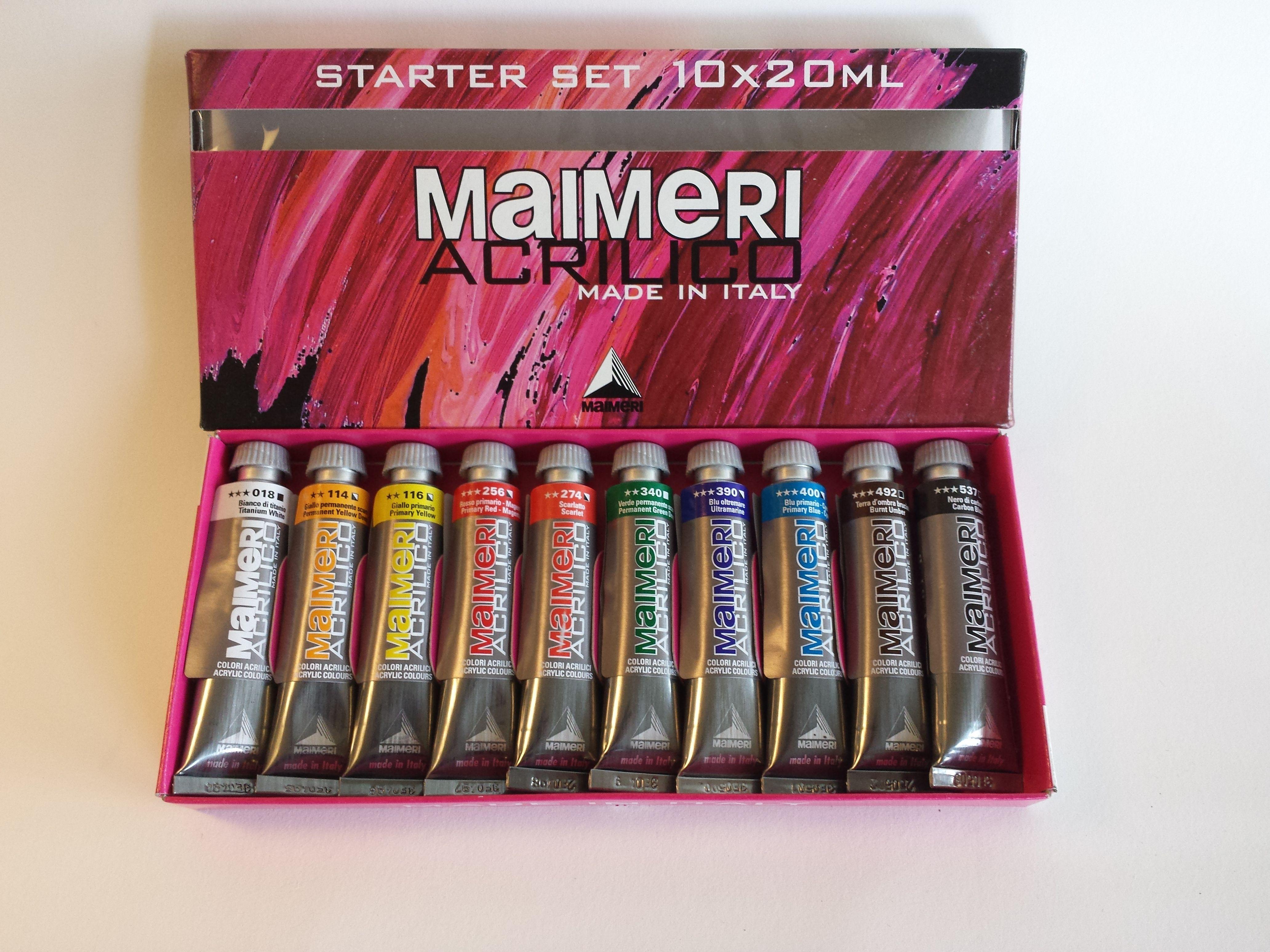 Awesome maimeri acrilico acrylic painting set maimeri