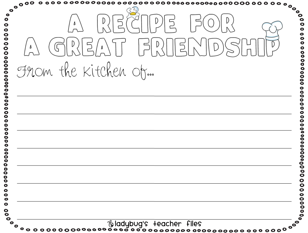 Enemy Pie Friendship Writing Activities Readers
