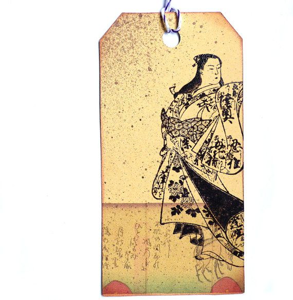 Geisha with festive kimono / Unmounted rubber stamp by MAKIstamps, €5.30