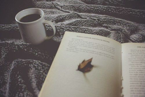 autumn books and black coffee