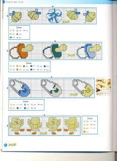graficos punto de cruz gratis para bebe