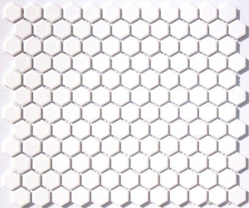 Lyric 1 X 1 Satin Glazed Porcelain Mosaic Hex Tile In Dutch White Coal Black Polka Dot Pattern Hexagonal Mosaic Porcelain Mosaic Tile Wall And Floor Tiles