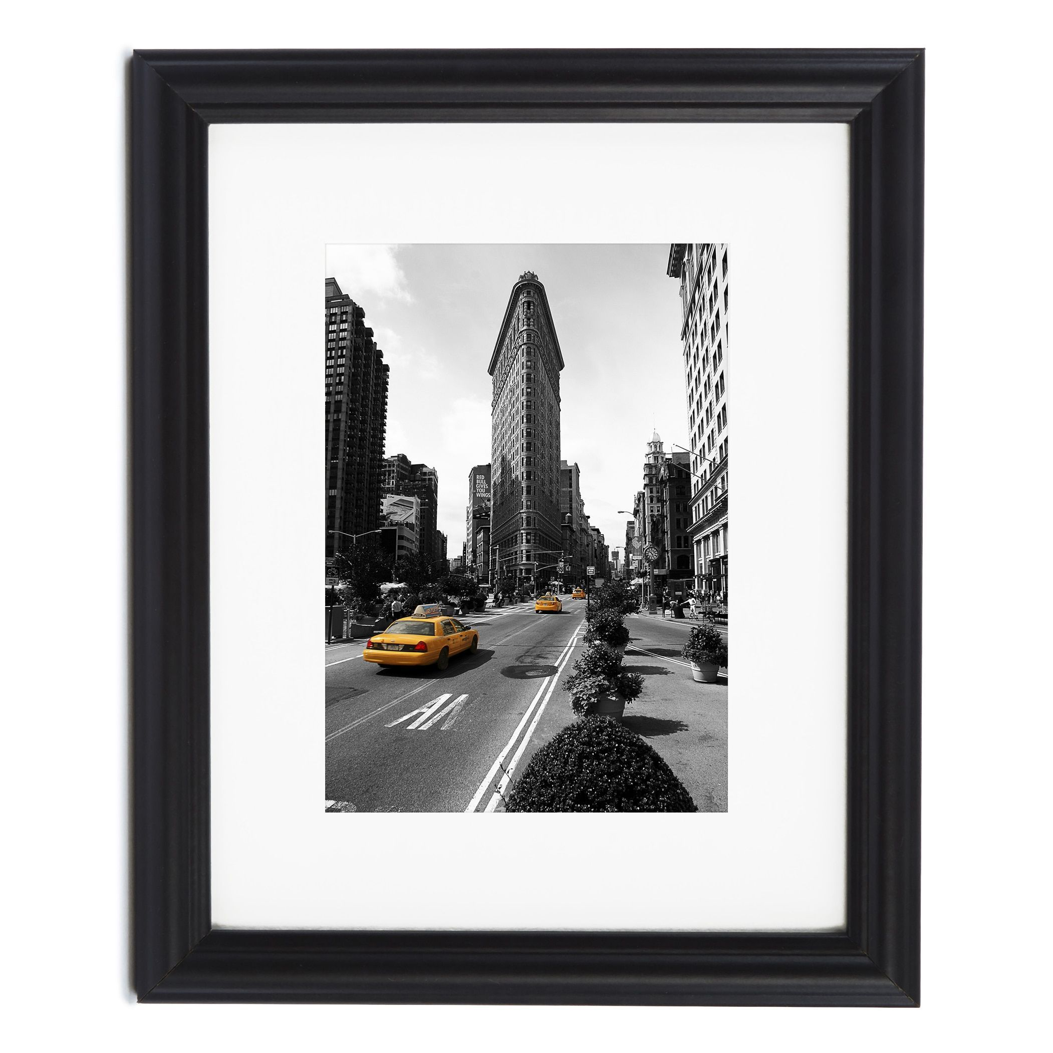 Americanflat Decorative Black Picture Frame with Optional White Mat ...