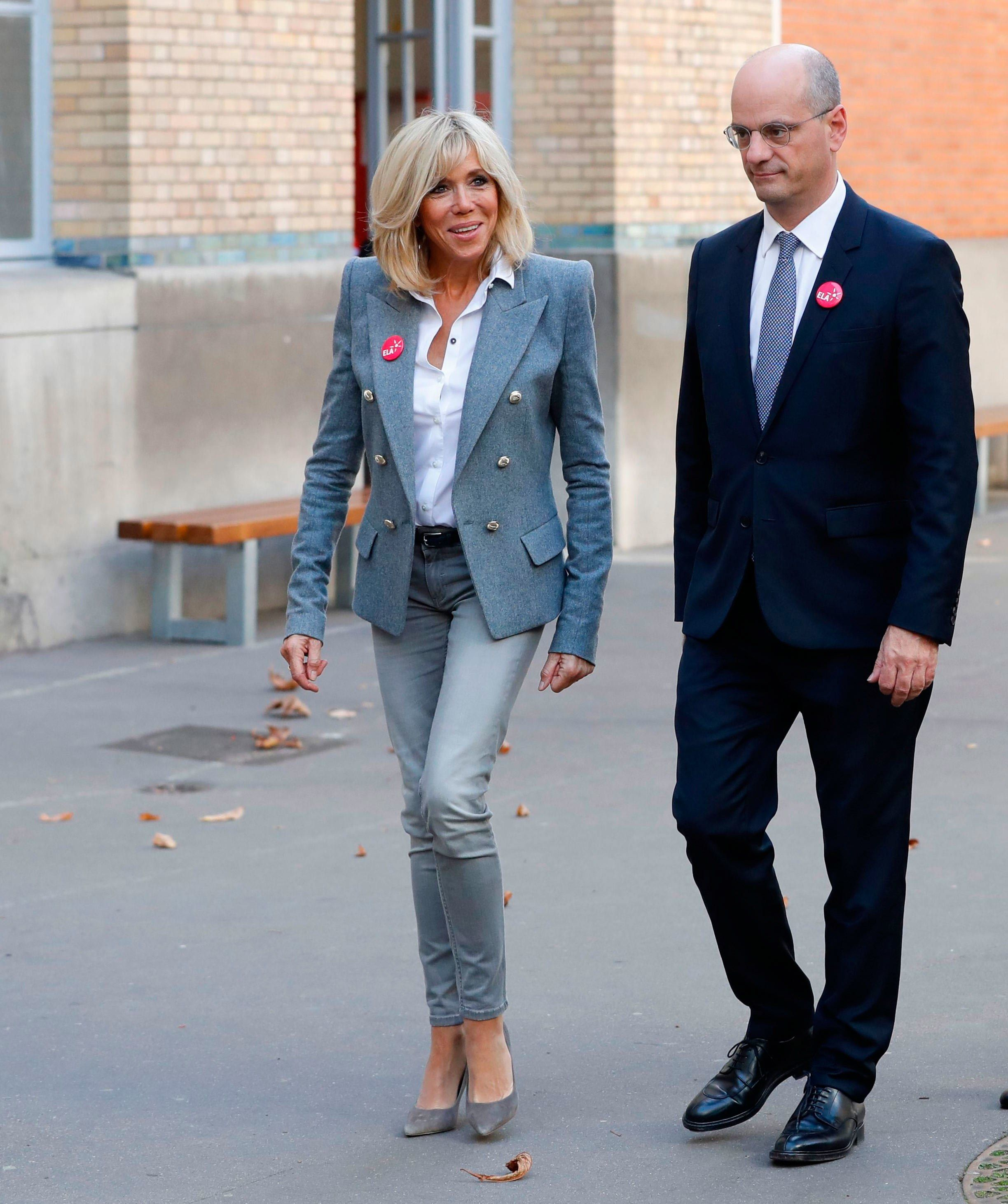Brigitte Macron Proves A Jacket And Jeans Is The Best