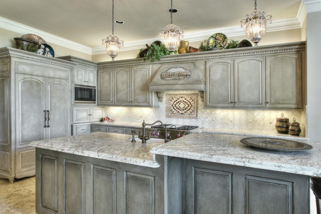 Antique Grey Kitchen Cabinets Shabby Chic Kitchen Cabinets