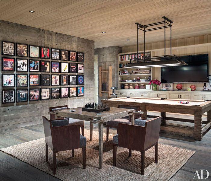 Real Estate Maven Kurt Rappaport S Striking Home In Malibu Pool Table Room Small Room Design Game Room