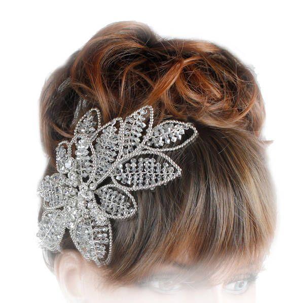 Wedding Headdress, Bridal Headband, Bridal Sideband ...