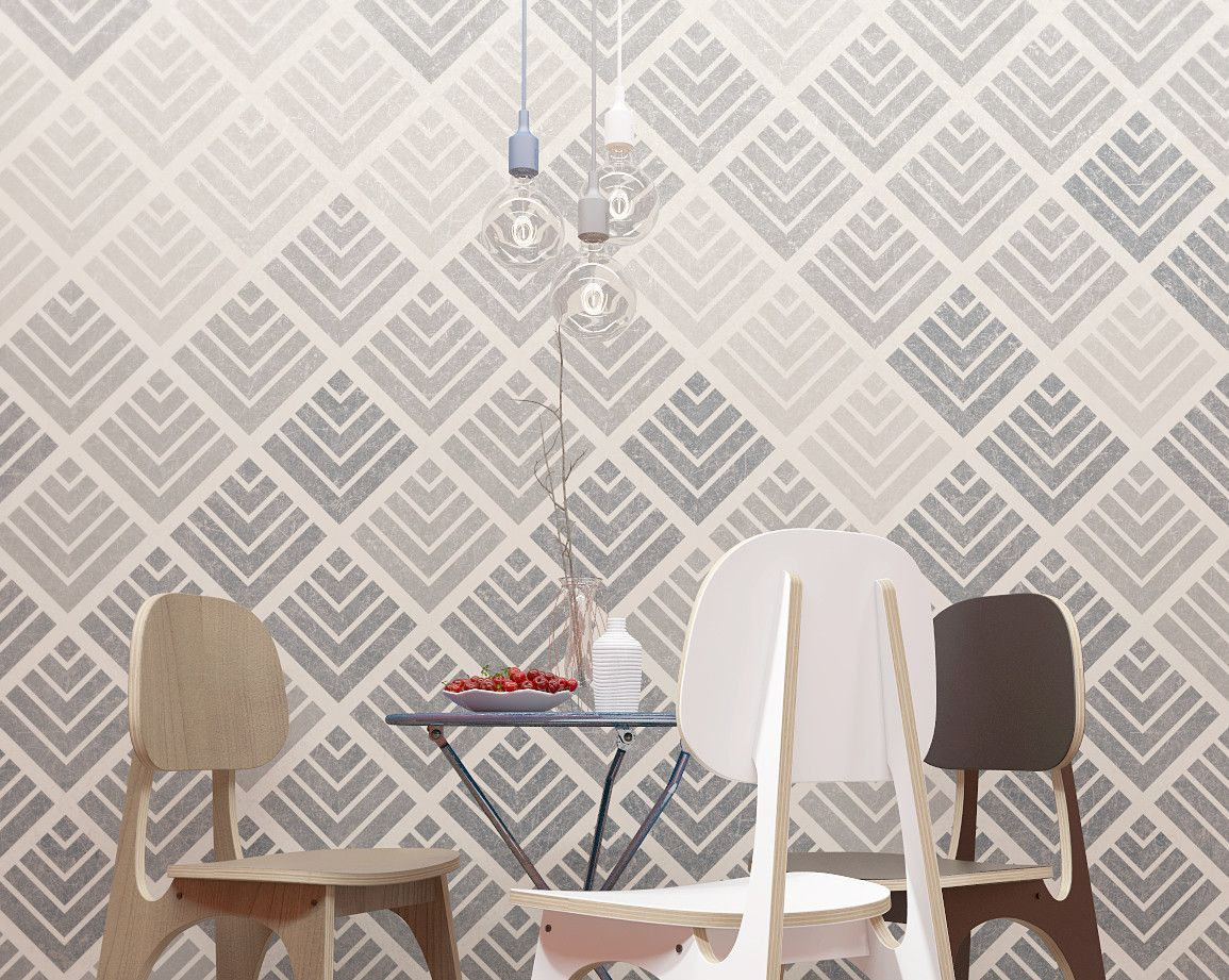 Geometric pattern stencils can transform the space that surrounds us small patterns and designs will make a small room look bigger and a big room look