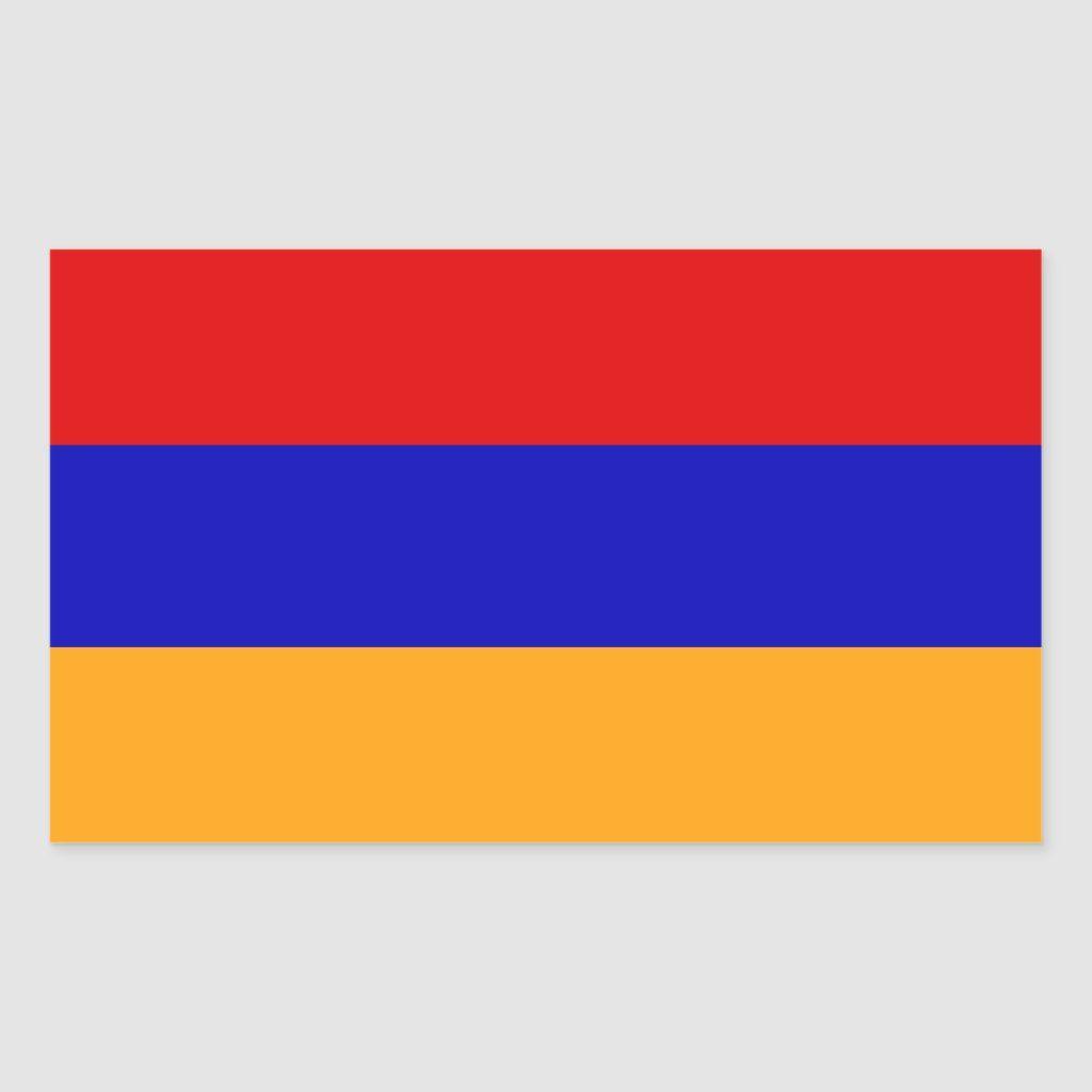 Armenian Flag Rectangular Sticker Zazzle Com Custom Stickers Stickers Armenian Flag [ 1024 x 1024 Pixel ]