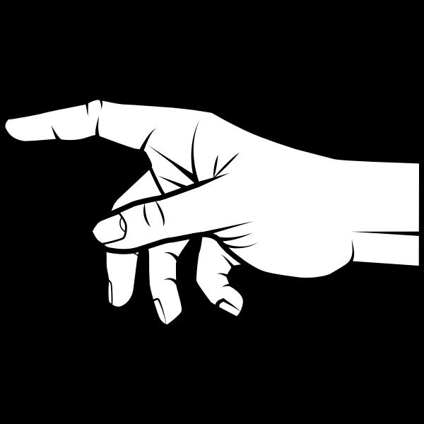 Extend A Finger Stretch Out The Index Finger Point To The Distance Point To Something Finger Clipart Einen Finger Ausstrecken Strecken Sie Den Zeigefinger Au Pointing Fingers Pointing Hand Prints For