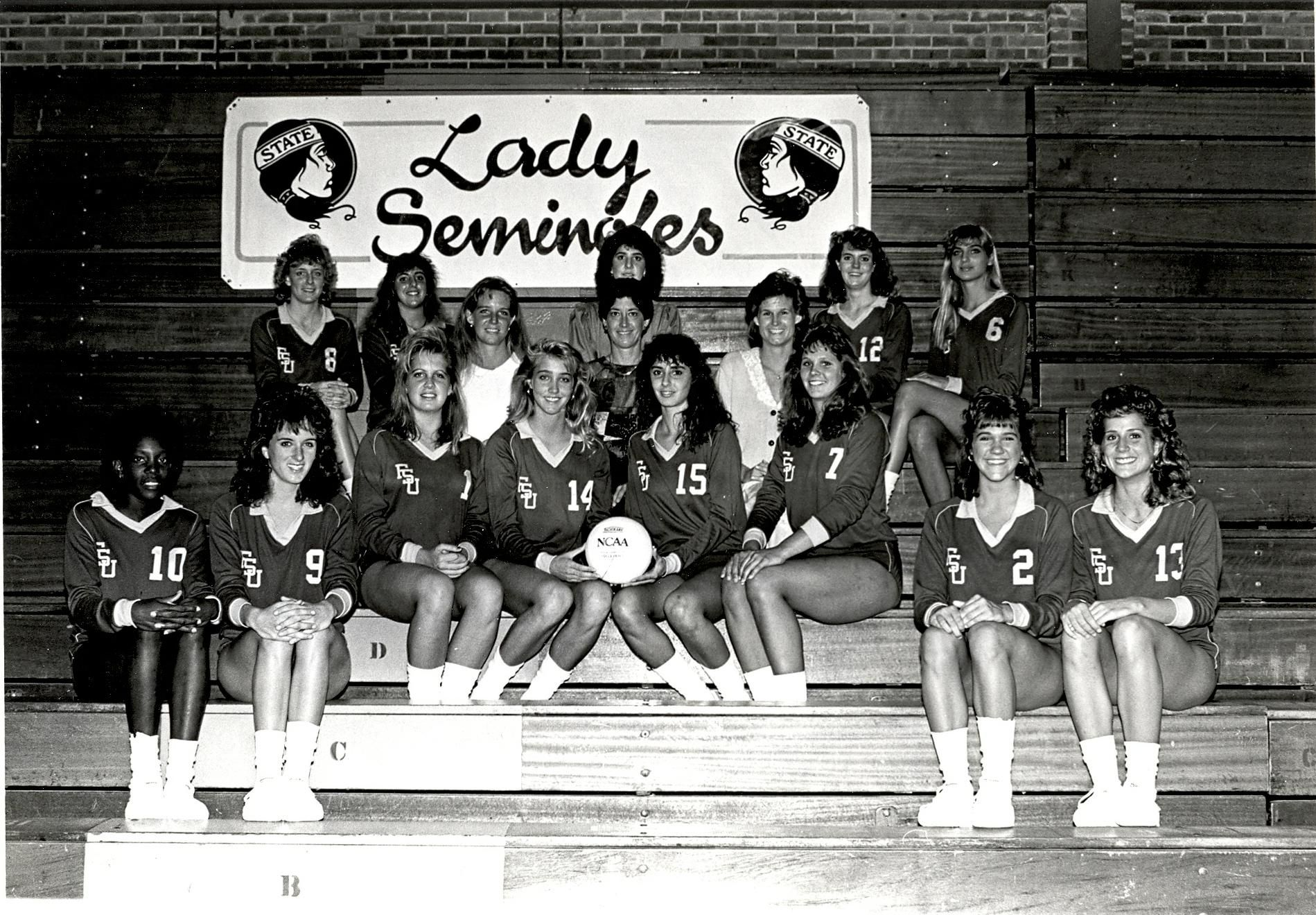 1987 Fsu Women S Volleyball Team Women Volleyball Volleyball Team Volleyball