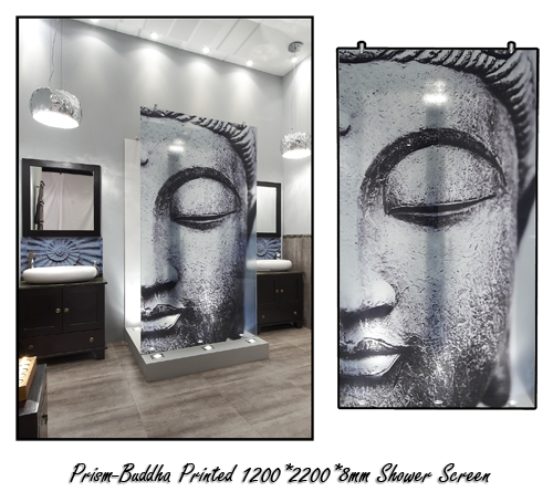 Superb Bathroom Bizarre: Prism Buddha Shower Screen