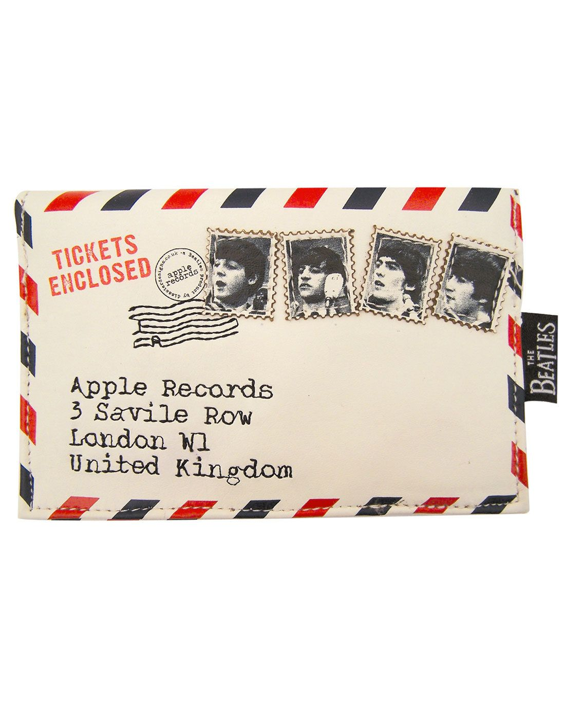 DISASTER DESIGNS Beatles Ticket To Ride Envelope Purse