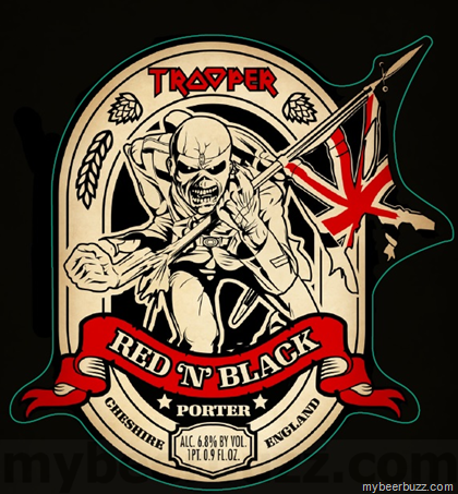 Iron Maiden Robinsons Trooper Red N Black Porter Coming To The U S Mybeerbuzz Com Bringing Good Beers Iron Maiden Tattoo Iron Maiden Eddie Iron Maiden