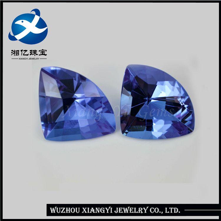 2017 Fashionable brazil semi precious stones Blue Fan-shaped