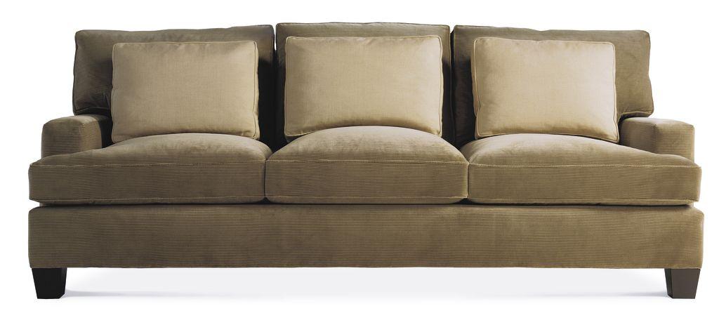 Baker Furniture Barbara Barry Loose Back Three Cushion Sofa
