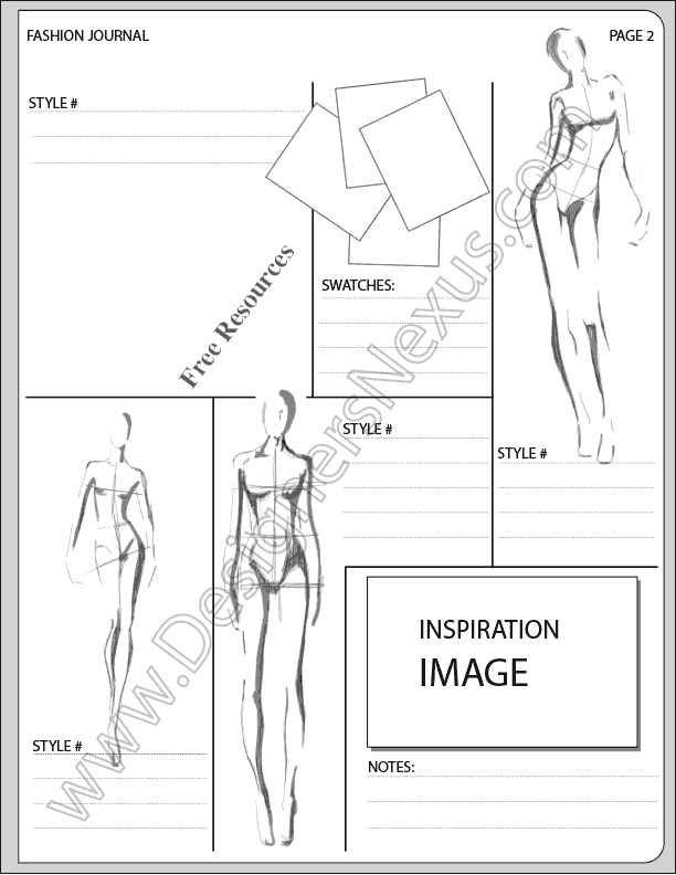 fashion sketchbook with templates - v15 fashion design portfolio layout template free high