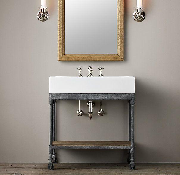 Dutch Industrial Single Console Washstand Console Sink