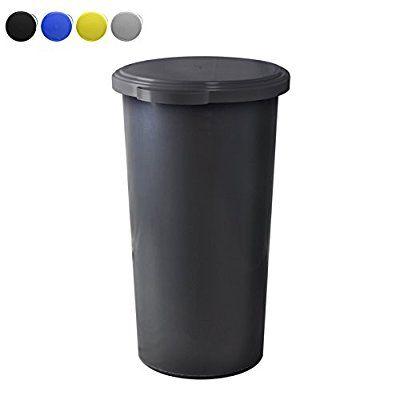 KUEFA 60L Müllsackständer mit flachem Deckel - Gelber Sack - mülleimer für küche