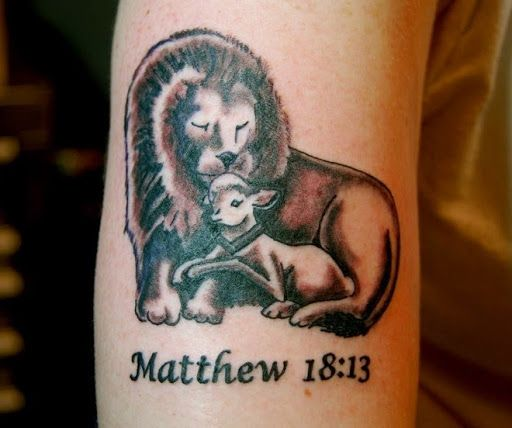 Lion And Lamb Tattoo Design Tattoo Design 4 Lion And Lamb Lamb Tattoo God Tattoos