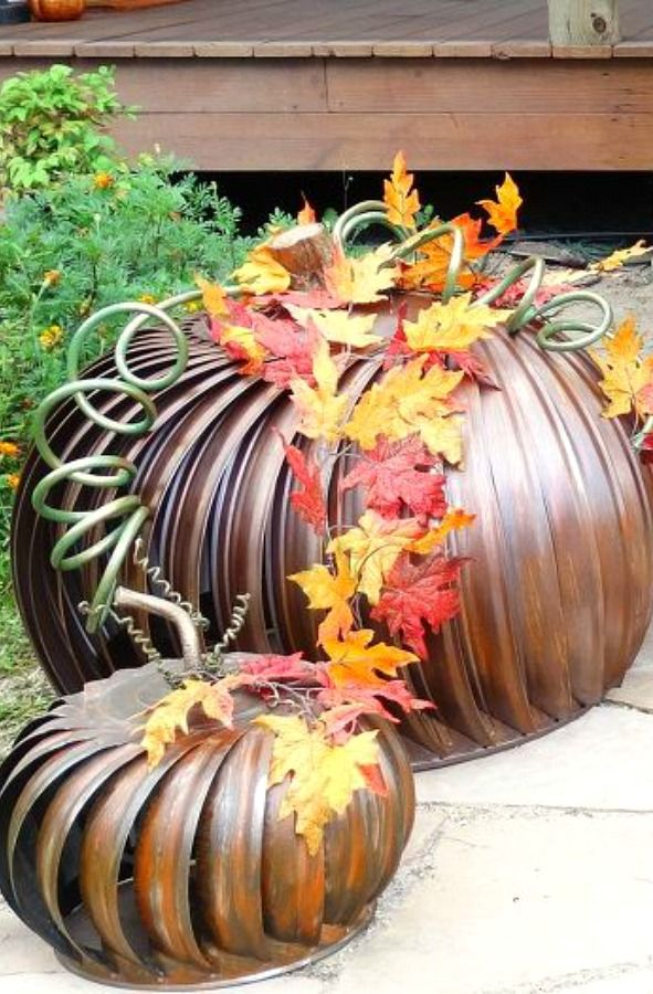 20 Insanely Cool Pumpkin Decorations That Don T Require Actual Pumpkins Pumpkin Decorating Pumpkin Decorating Diy Fall Decor Diy