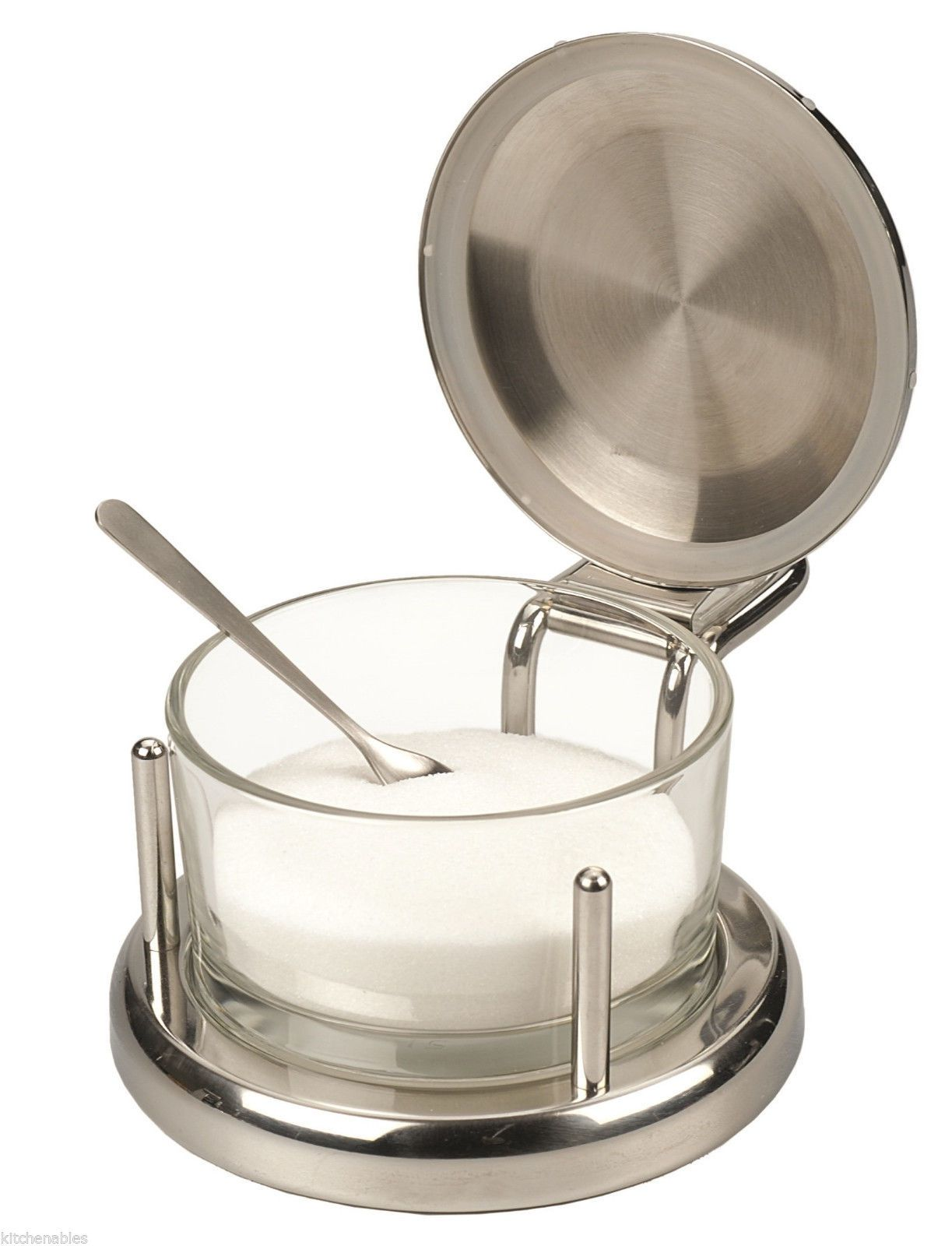 RSVP Endurance® Stainless & Glass SALT Keeper BOX DISH SERVER CELLAR ...