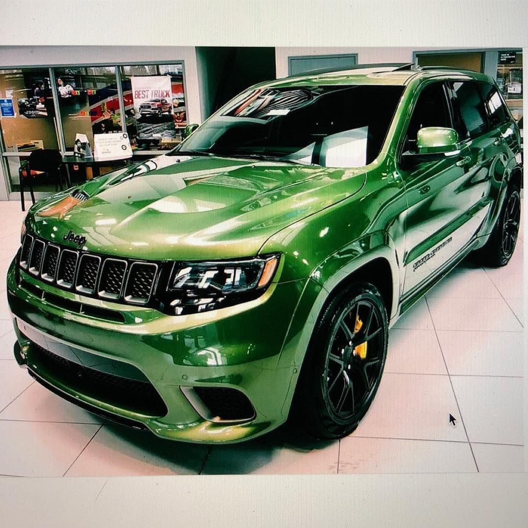 Street Car Takeover On Instagram Whats Your Thoughts On This Factory Green Trackhawk We Like It Trackhawk Srt Hemi Hellcat Streetc Street Cars Car Srt