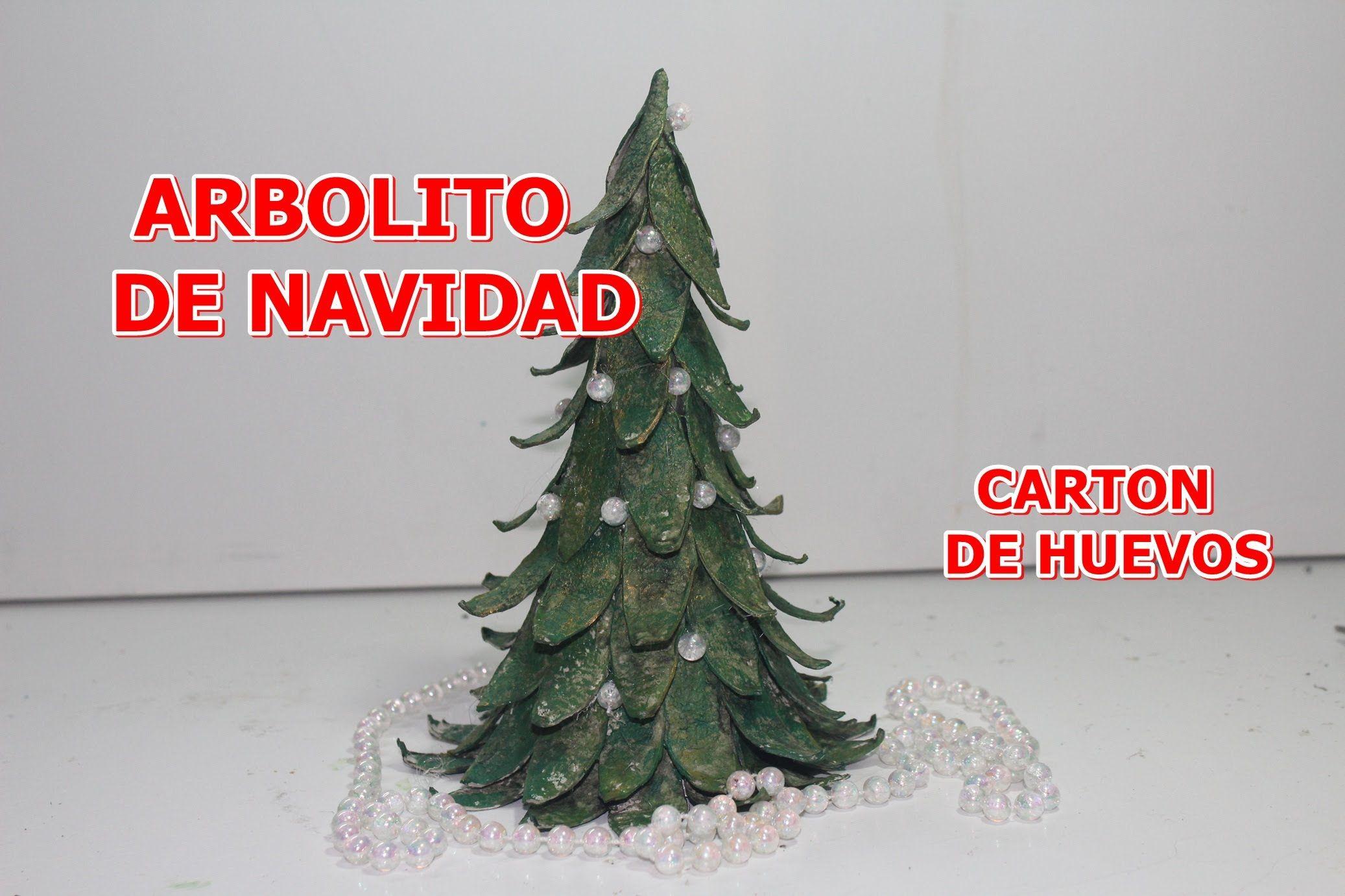 ARBOL DE NAVIDAD CON CARTON DE HUEVOS - Christmas tree with egg ...
