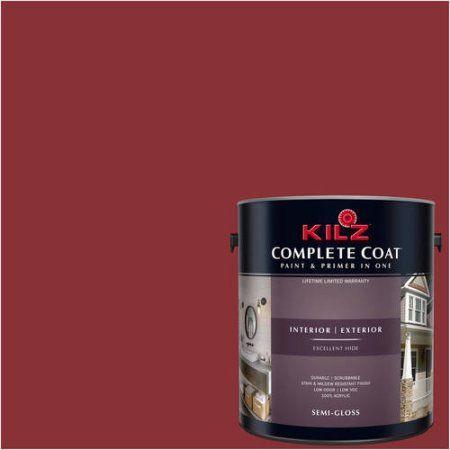 Kilz Complete Coat Interior/Exterior Paint & Primer in One #LA130-02 Raging Bull