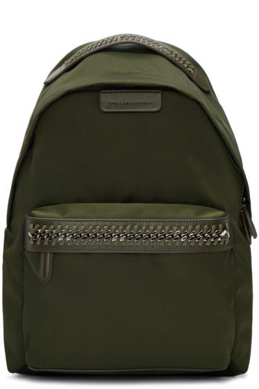 3d31317de825 Designer bags for Women. Stella McCartney - Green Nylon Chain Backpack