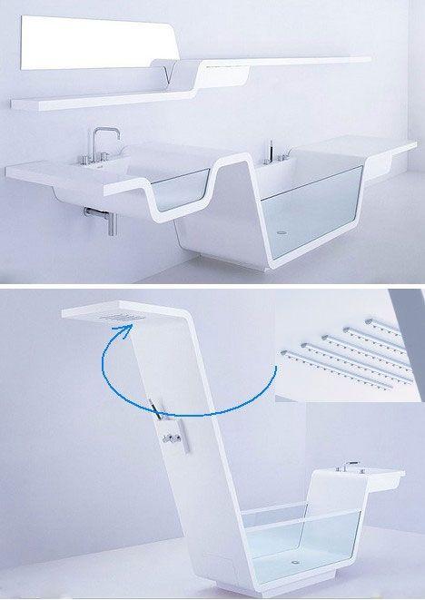 Muebles de ba o con un dise o futurista muebles de ba o en 2019 pinterest muebles de ba o Diseno interior futurista