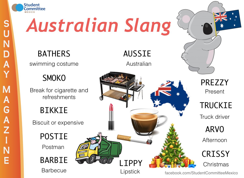 Australian Slang Sunday Magazine