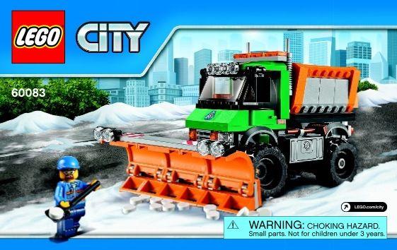 Lego Snowplow Truck Instructions 60083 City Lego City Trucks Snow Plow