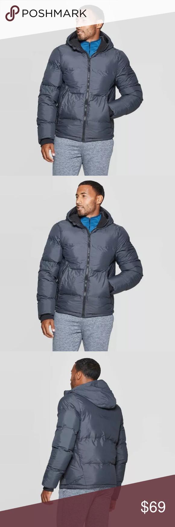 Champion Men S Puffer Jacket Gray S Mens Puffer Jacket Fashion Deals Gray Jacket [ 1740 x 580 Pixel ]