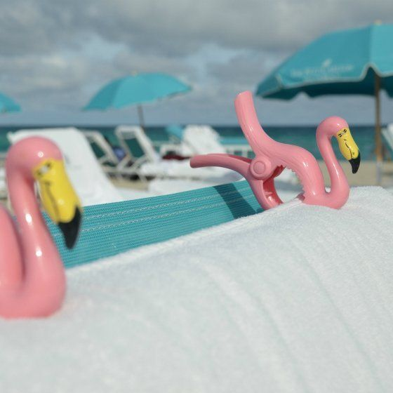 chair clips for beach towels captains chairs fishing boats flamingo towel personal items pink work on all lounge deck and keep your from falling sagging blowing away