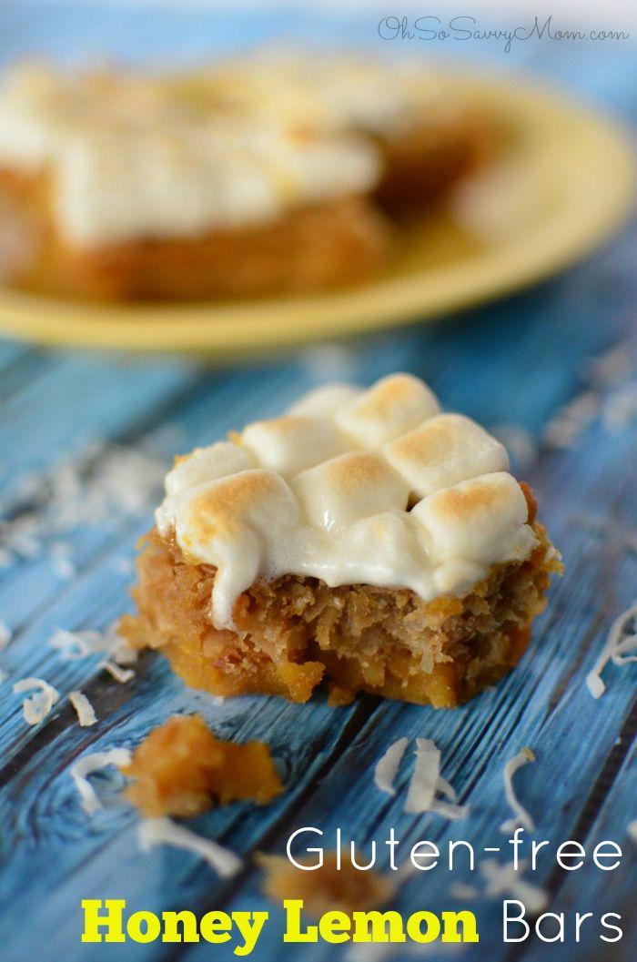 Gluten-free Honey Lemon Bars Recipe!