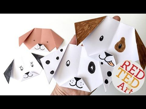 Easy Origami Dog / Puppy - Red Ted Art's Blog