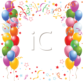 Royalty Free Clipart Image Of A Border Balloon And Confetti