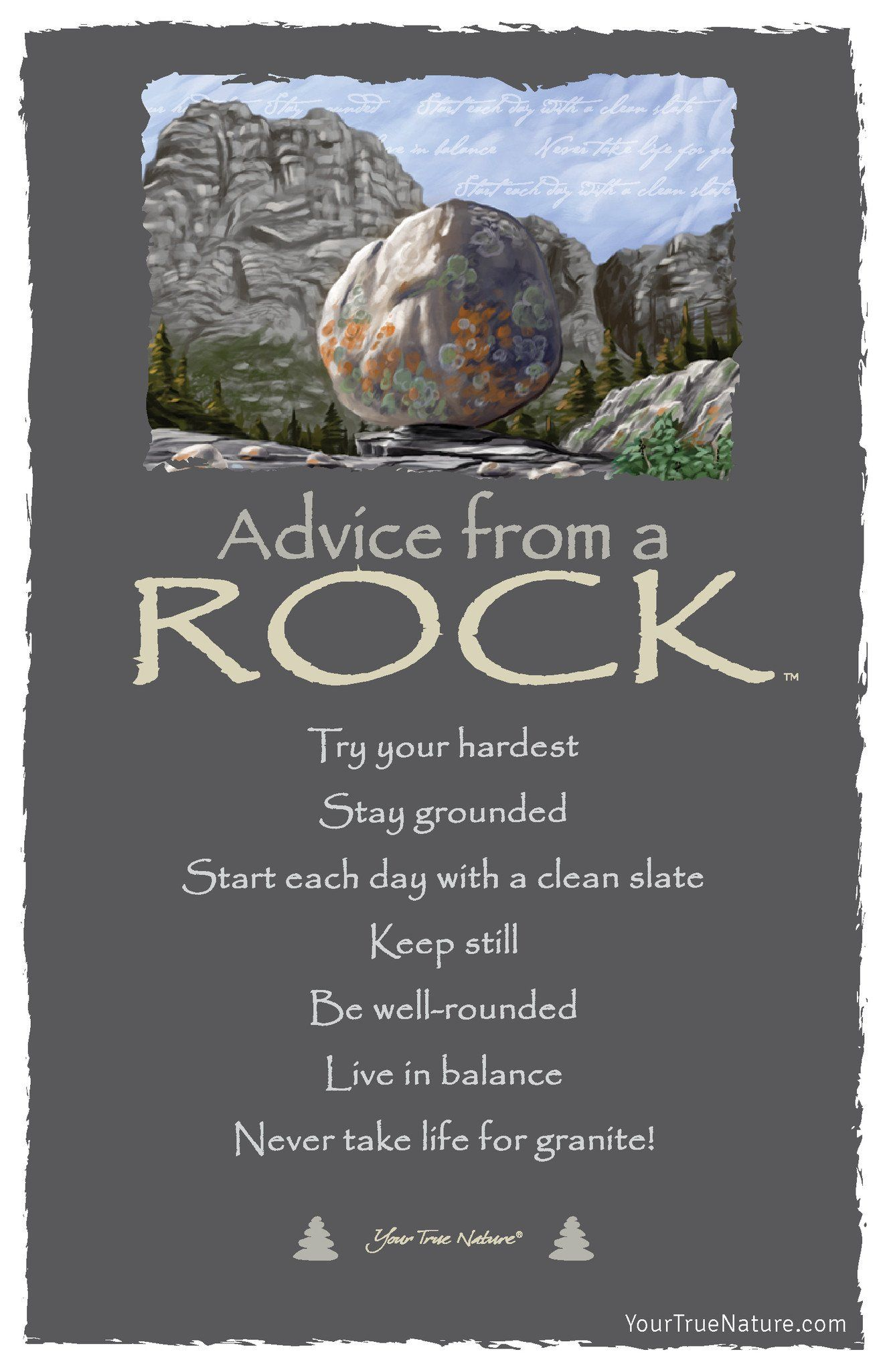 Advice From A Bison Laminated Bookmark Your True Nature Inc