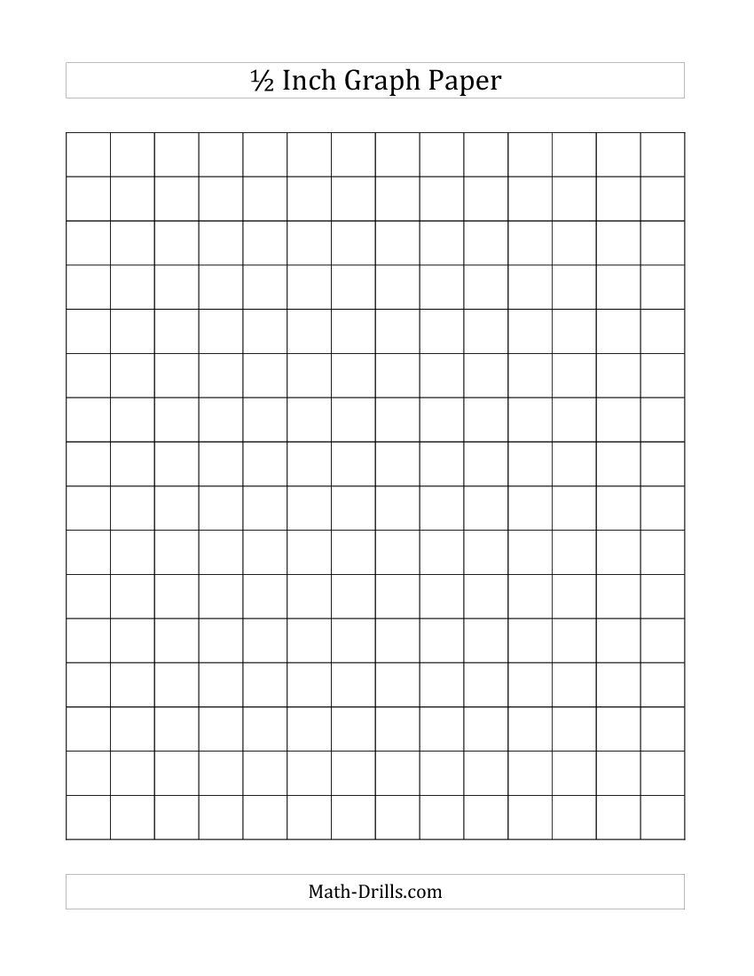 inch graph paper