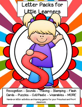 LETTER S - Letters for little learners pack – 62 pg. - recognition, sound, tracing and craftivities. Low prep. Appropriate for pre-readers.