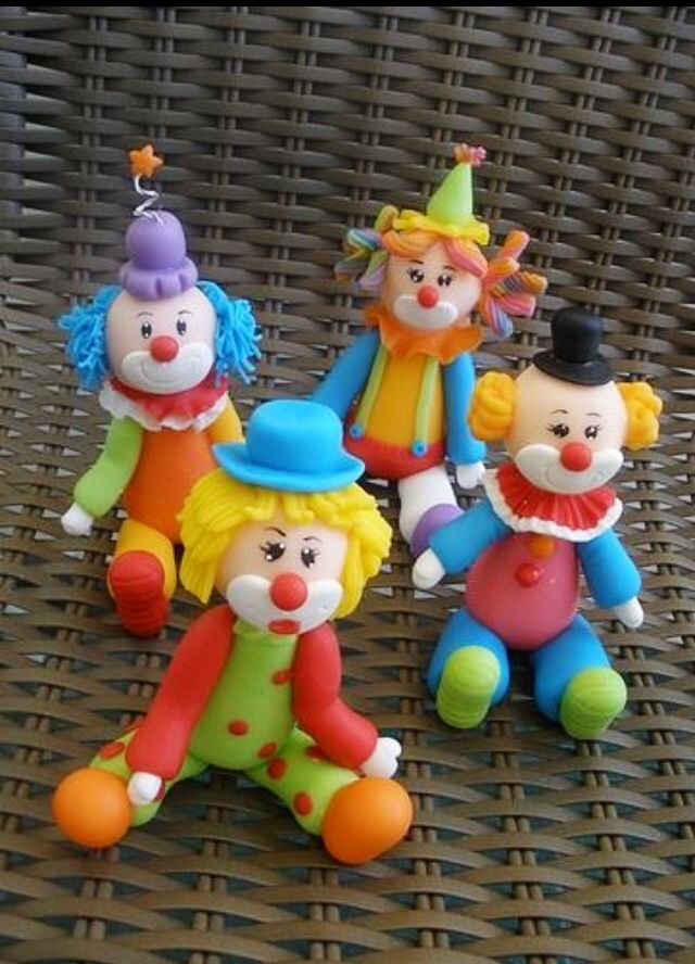 Cute Little Clowns Cakes