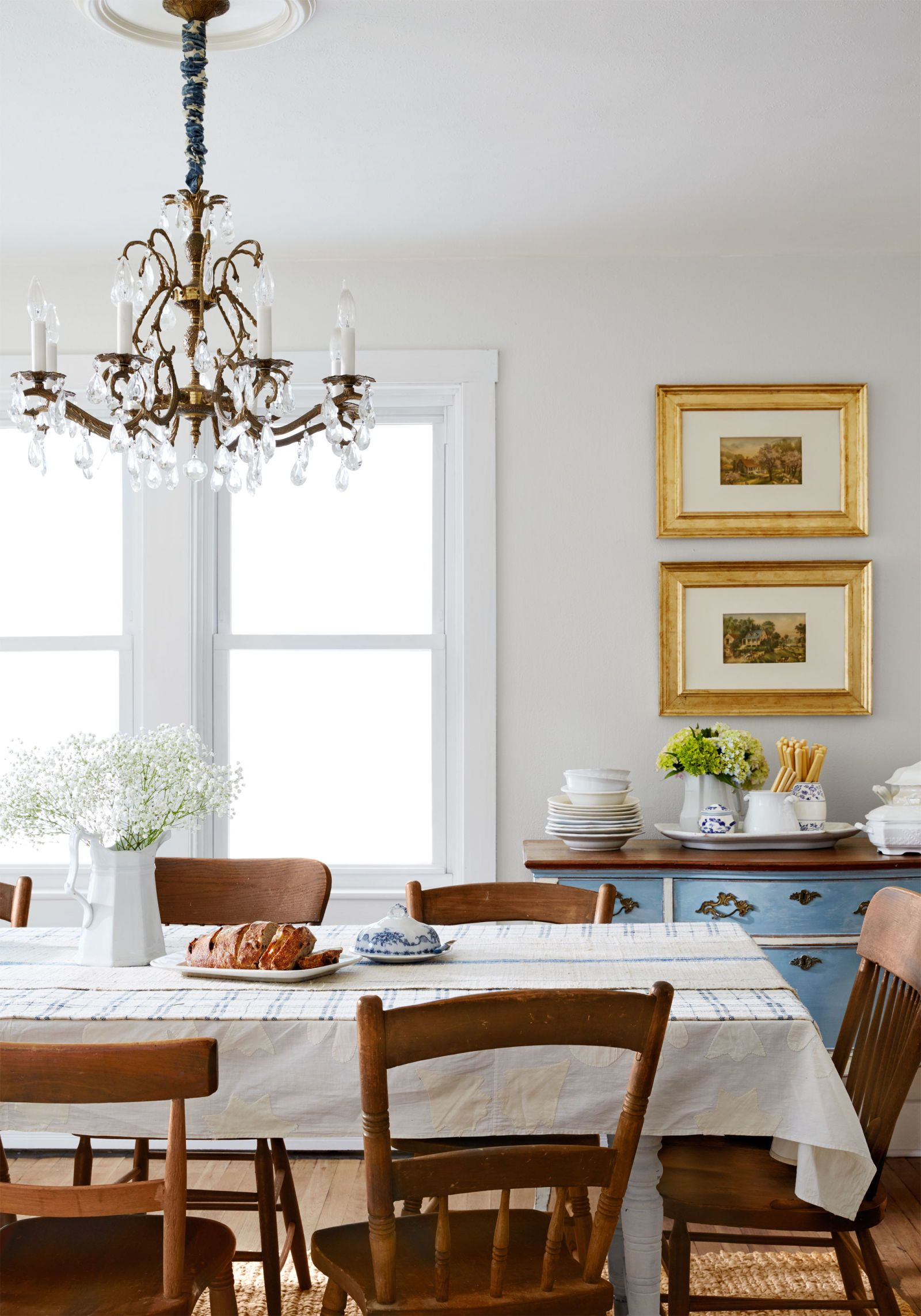Even DIY Skeptics Will Be Inspired By This Cape Cod Makeover Mismatched Dining RoomChandelier ChainOld
