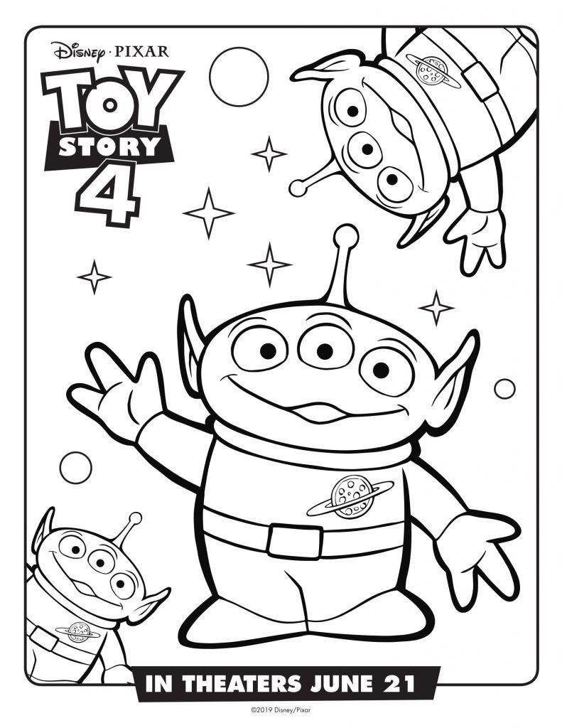 Toy Story 4 Coloring Pages | Toy story coloring pages ...