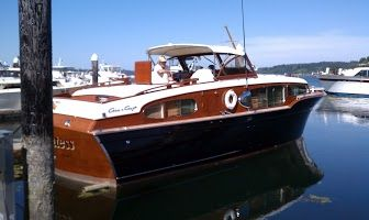 Chris Craft...love the deep blue hull
