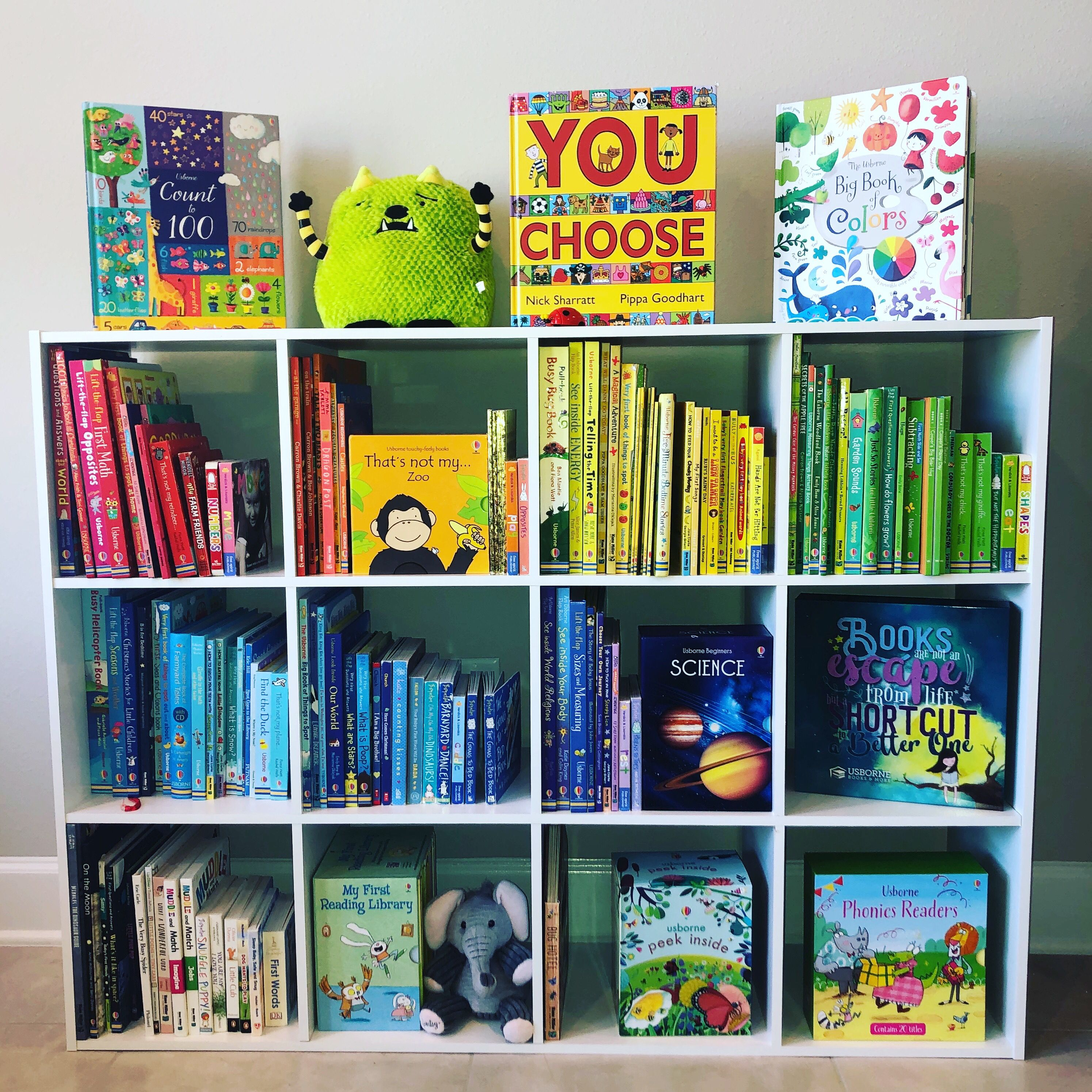 Children S Book Shelf Arranged By Color Of Books Shelf From
