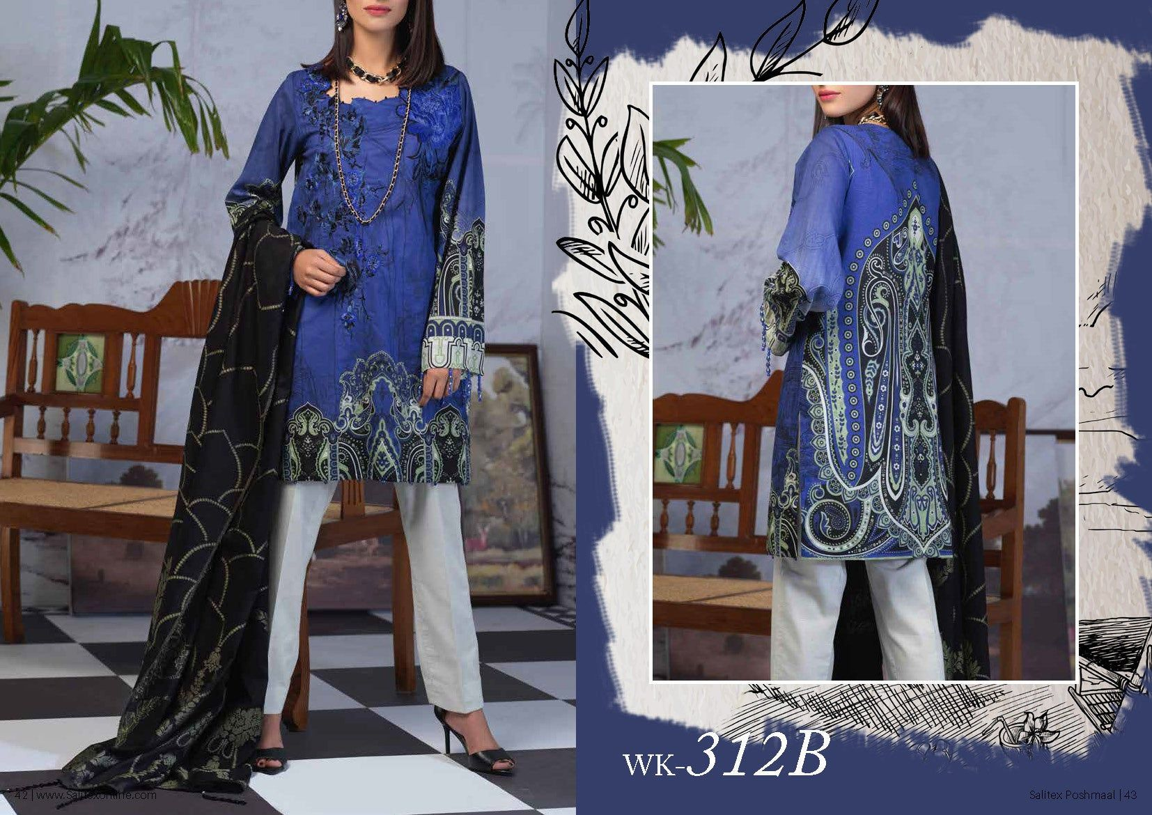 Poshmaal Exclusive Lawn Collection with Jacquard Dupattas