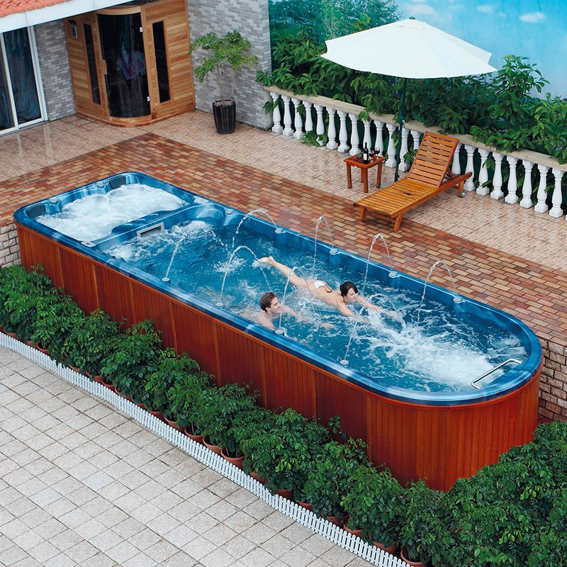 Garden Swimming Pool Liquid Acrylic Swim Spa Outdoor Find Complete Details About